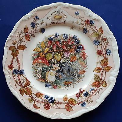 "Royal Doulton Brambly Hedge ""Autumn"" Bone China 6-1/8"" Afternoon Tea Plate. 1983"