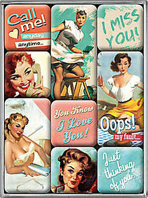 Magnet-Set - Say it 50´s, 9-teilig