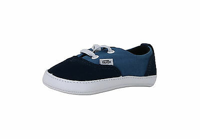 Vans New Born Crib Babies Boys Shoes Booties Era Navy Blue White Strap 9fb7f7841