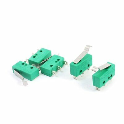 PODOY Pack of 5 KW4 3Z 3 Micro Limit Switch AC 125V 5A Hinge Lever for Mill CN
