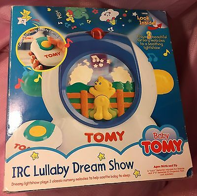 Baby Tomy IRC Lullaby Dream Show Crib Night Light Projector Mobile Bear Remote