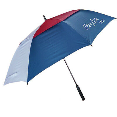 New Men Women 62 Inch Golf Umbrella Double Canopy Windproof Auto Open Large Rain