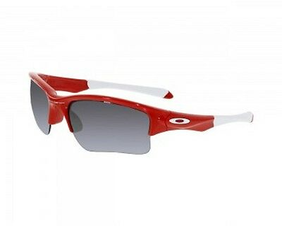 Oakley Boy's Quarter Jacket Red Semi-Rimless Sunglasses