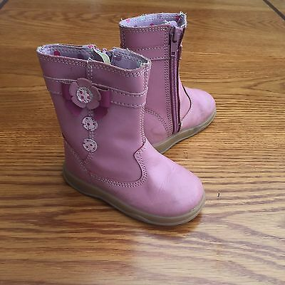 Girl Baby / Kids Grosby Leather Pink Boots Size 5