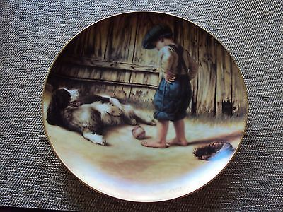 Danbury Mint English Springer Spaniel The Thief Plate