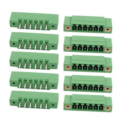 10 Pcs LZ1VM 3.5mm Pitch 6P PCB Mounting Terminal Block Wire Connector