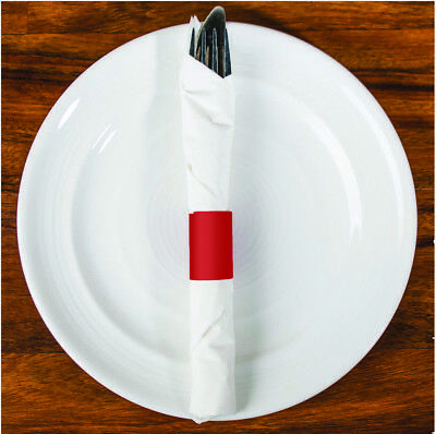 MH Paper 6 x 1.5 Red Napkin Bands (20,000) Self Adhesive