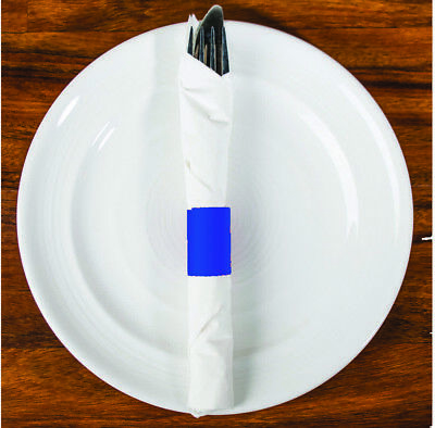MH Paper 6 x 1.5 Blue Napkin Bands (20,000) Self Adhesive
