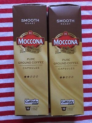Moccona Coffee Capsules Pods Smooth Roast Ground Caffitaly