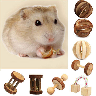 Wooden House Villa Cage Exercise Play Chew Toys Hamster Hedgehog Rat Guinea Pig