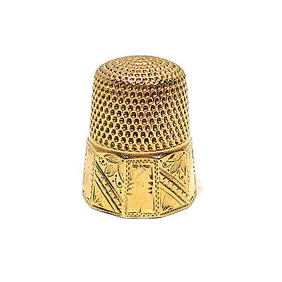 Stern Brothers Solid 10K Yellow Gold Thimble ~ No Mono