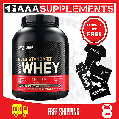 OPTIMUM NUTRITION - 100%WHEY GOLD STANDARD |5lbs | 2.3kg | 72 Servings | Protein