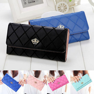 Popular Women Lady PU Leather Clutch Wallet Long Card Holder Purse Handbag