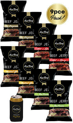 9 Piece Mixed Pack NIVE BEEF JERKY (8 x 50g packets)