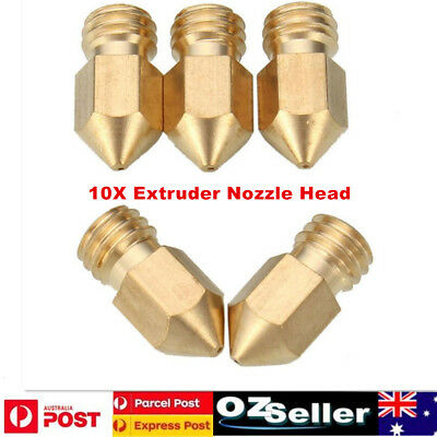 10X Extruder Nozzle Head for Makerbot MK8 3D Printer 1.75mm  0.2mm+0.3mm+0.4mm