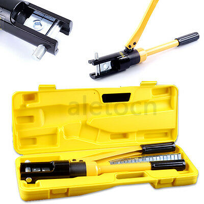 Quick Hydraulic Crimper 16 Ton Cable Plier Crimping Tool Kit 16 -300mm 11 Die