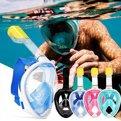 New Full Face Snorkeling Mask Diving Swimming Snorkel Breather Pipe for Gopro UK