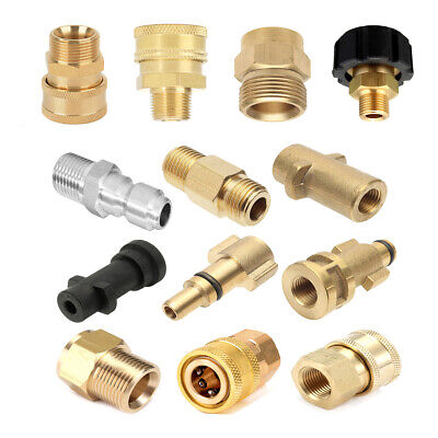 Various Brass Adapter For Snow Foam Lance Adaptor High Pressure Washer Connector