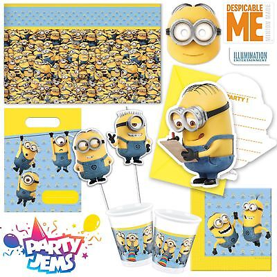 Lovely Minions Party Despicable Me Children's Birthday Tableware Decorations