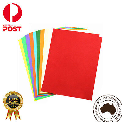 100 x Coloured Card Cardboard Paper A3 A4 A2 DIY Craft Handicraft- Premium Qlty