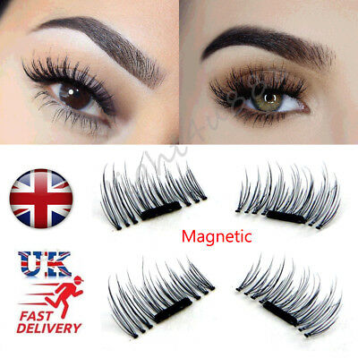 2 Pairs 3D Magnetic Eyelashes Reusable False Magnet Natural Eye Lashes Extension
