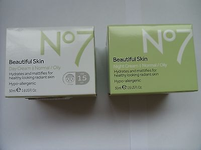 No7 Beautiful Day or Night Cream For Normal/Oily Skin 50ml