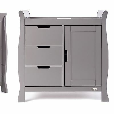 Obaby Lincoln sleigh  Changing Unit taupe grey