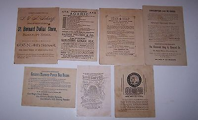 1800's - Victorian Trade / Calling Card Lot Of 7 Different Products Ephemera • $6.95