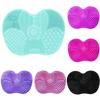Silicone Makeup Brush Cleaners Pad Washing Scrubber Board Cleaning Mat Hand New