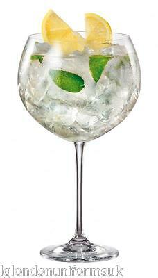 4x BOHEMIA CRYSTAL GIN AND TONIC COCKTAIL balloon GLASS 850ml ENEBRO RRP £39.99