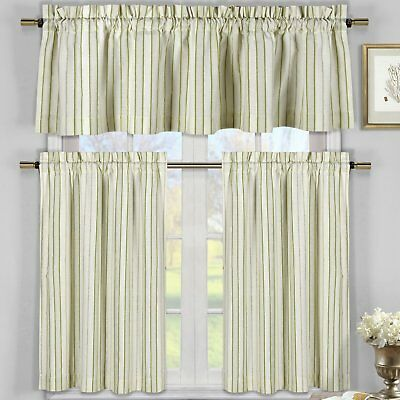 Darby Home Co Julius 3 Piece Kitchen Curtain Set Direct From Wayfair