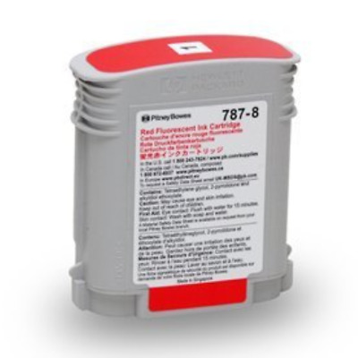 Pitney Bowes # 787-8 Red Ink Cartridge for Connect + Series