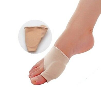 Fabric Toe Bunion Gel Pad Joint Protector Hallux Valgus Corrector Sleeve Pads UK