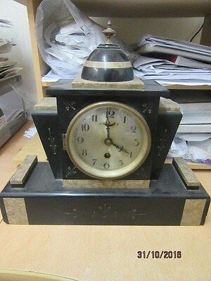 Marble Mantel Clock Ideal For Spares Or Repair