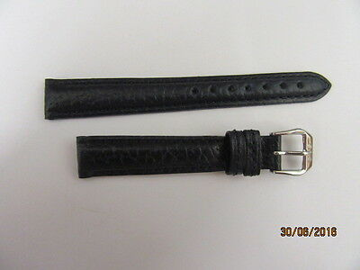 Genuine Oris Leather Watch Strap 51451 Dark Blue For 14mm Fitting