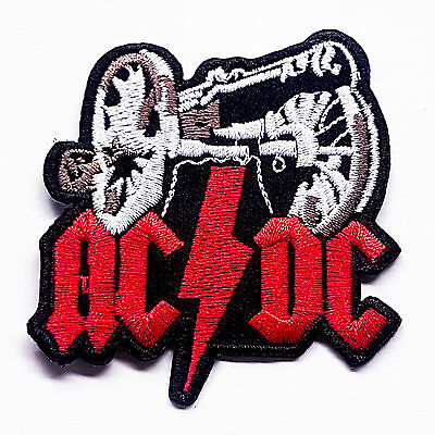 AC/DC Big Gun Hard Rock Music Logo Embroidered Iron On Patch