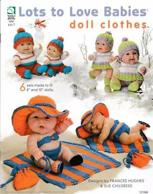 Knitting Pattern Leaflet Lots To Love Babies Doll Clothes 6 Cute Designs
