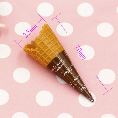 Artificial Ice Cream Cone Prop Toy Imitation Fake Play Food Replica Play for Kid