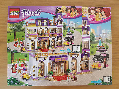 Lego Friends 41101 Heartlake Grand Hotel Instruction Manual Only