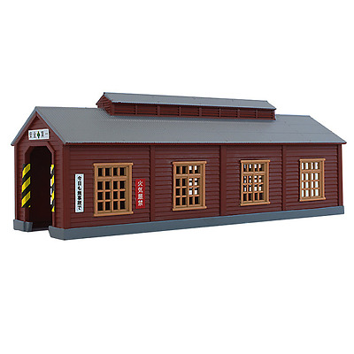 Rokuhan S051-2 Wood Engine House (Brown) - Z