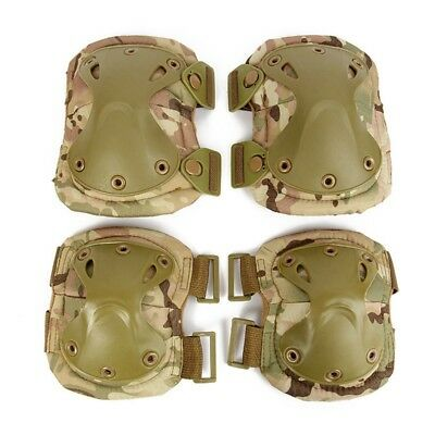 Newly Elbow Knee Pad Set Tactical Military Training Gear Sporting Body Protector