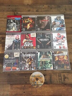 Lot Of 13 PlayStation 3 Games Call Of Duty Red Dead Redemption Resident Evil
