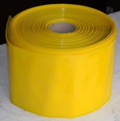 "Yellow Tinted Layflat Polythene Tubing 1000 Gauge 207mm / 8"" Wide x 174m Roll"