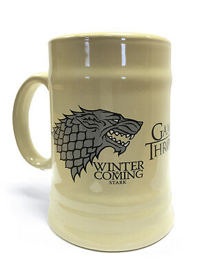 Boxed Ceramic Stein - Game Of Thrones (House Stark) - MGS23800