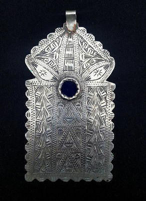 Morocco - Talisman Amulet called LOUHA or Gate of MOSQUEE in silver
