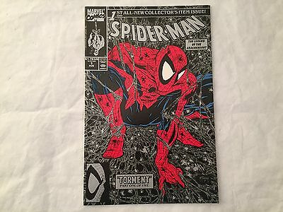 Spider-Man #1 Marvel Comics 1990 Unbagged Silver Edition Todd McFarlane VF