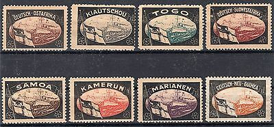 German Reich - Rare Lost Colonies Probaganda Stamps Mint Hinged