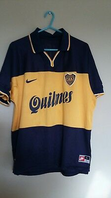 Boca Juniors Nike 98-99 home football shirt - Riquelme 10 rare retro vintage