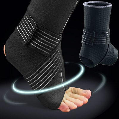 Adjustable Football Protector Gear Ankle Foot Support Elastic Brace Guard UKMES