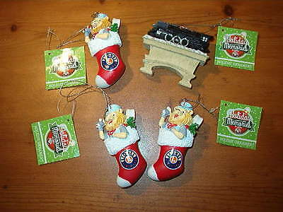 Holiday Memories LOT 4 Lionel Train Christmas Tree Ornaments NEW Free Shipping
